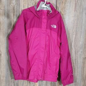 The north  face girls rain jacket  size medium
